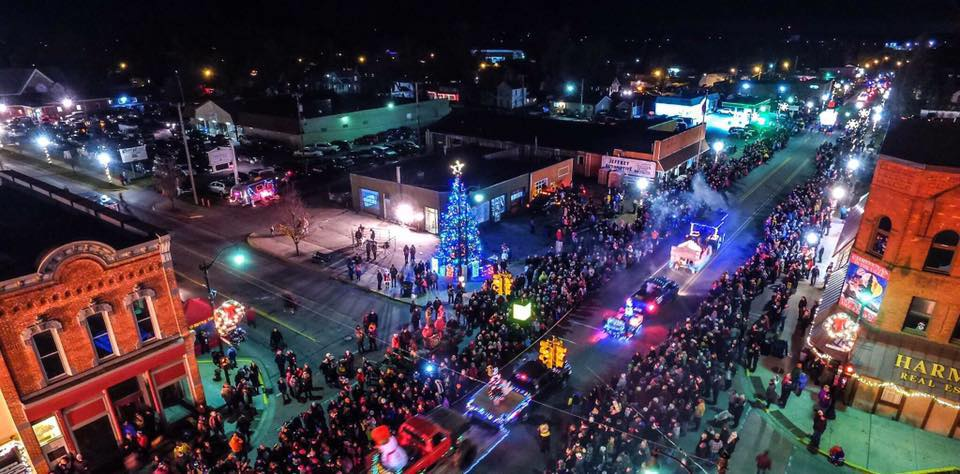 Drone View of Christmas in the Ville