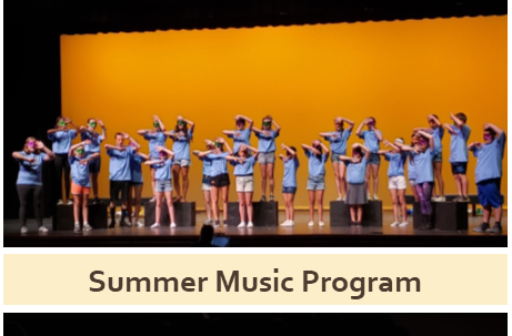 Summer Music Program Click here for more information