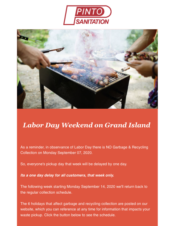 Labor Day Garbage & Recycling Collection