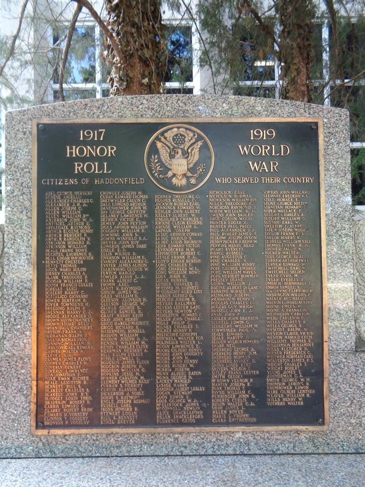 haddonfield wwi war memorial - Haddonfield Nj Halloween