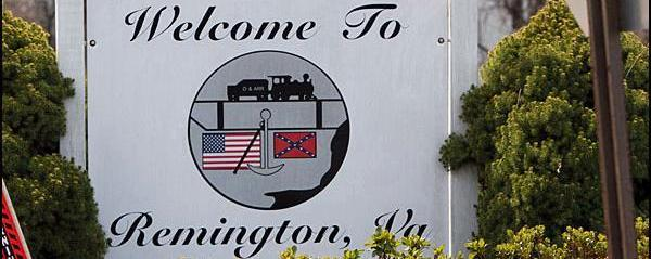welcome to remington sign
