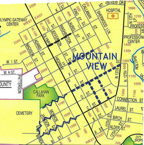 Mountain View PW Map