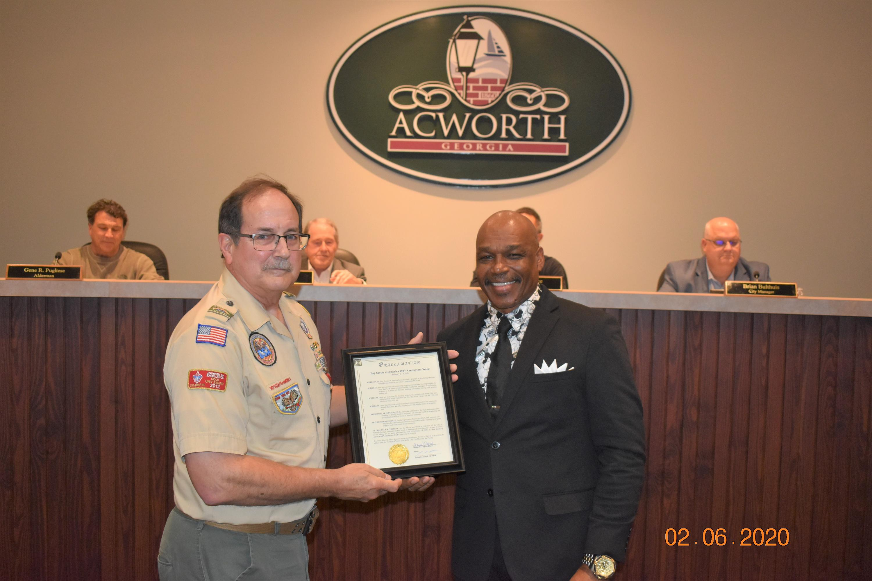 Proclamation in Recognition of Boys Scouts of America 110th Anniversary Week