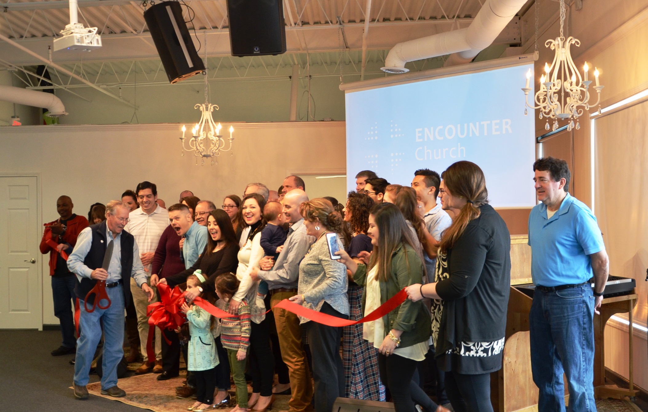 Image of Ribbon Cutting for Encounter Church