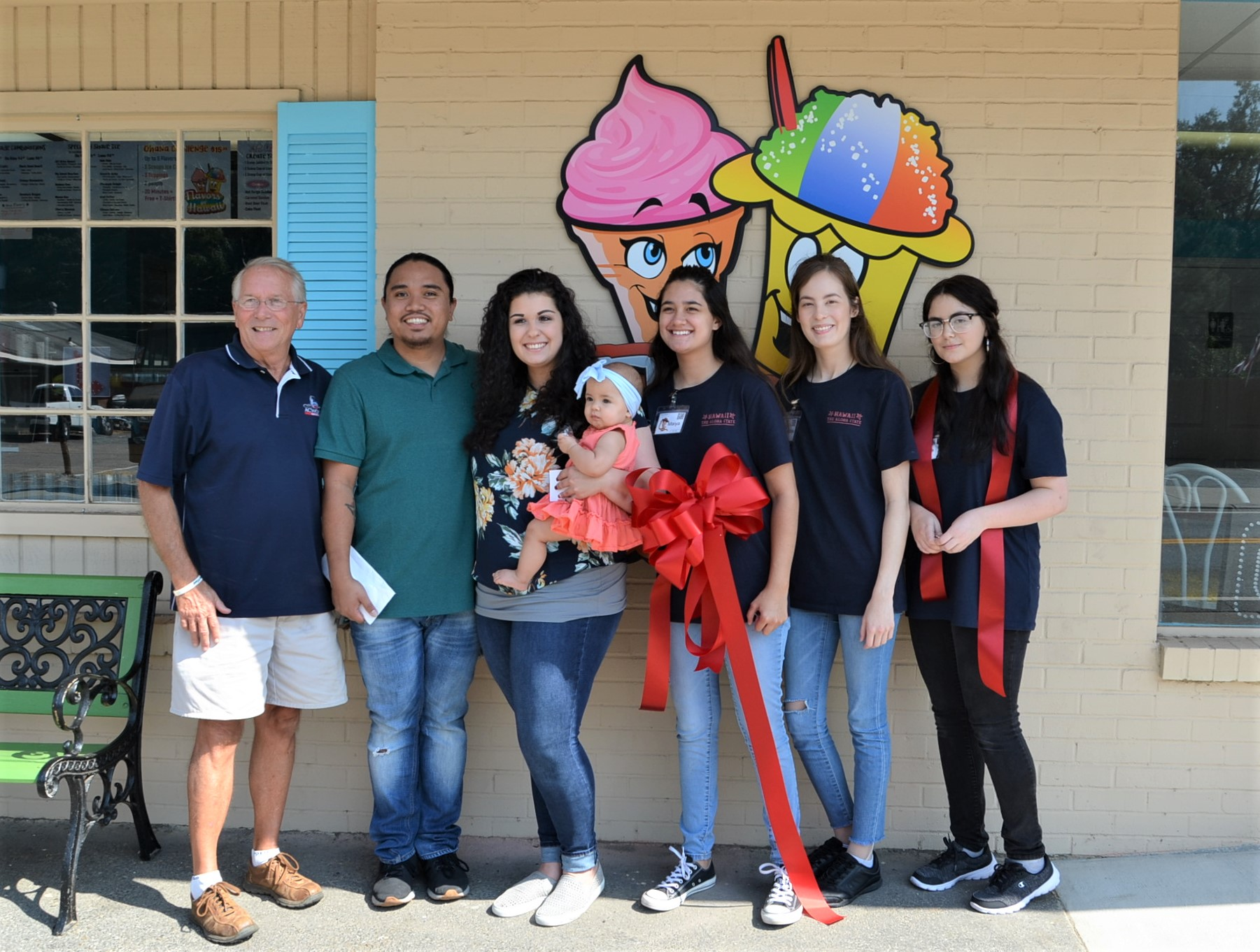 Image of Ribbon Cutting for Flavors of Hawaii