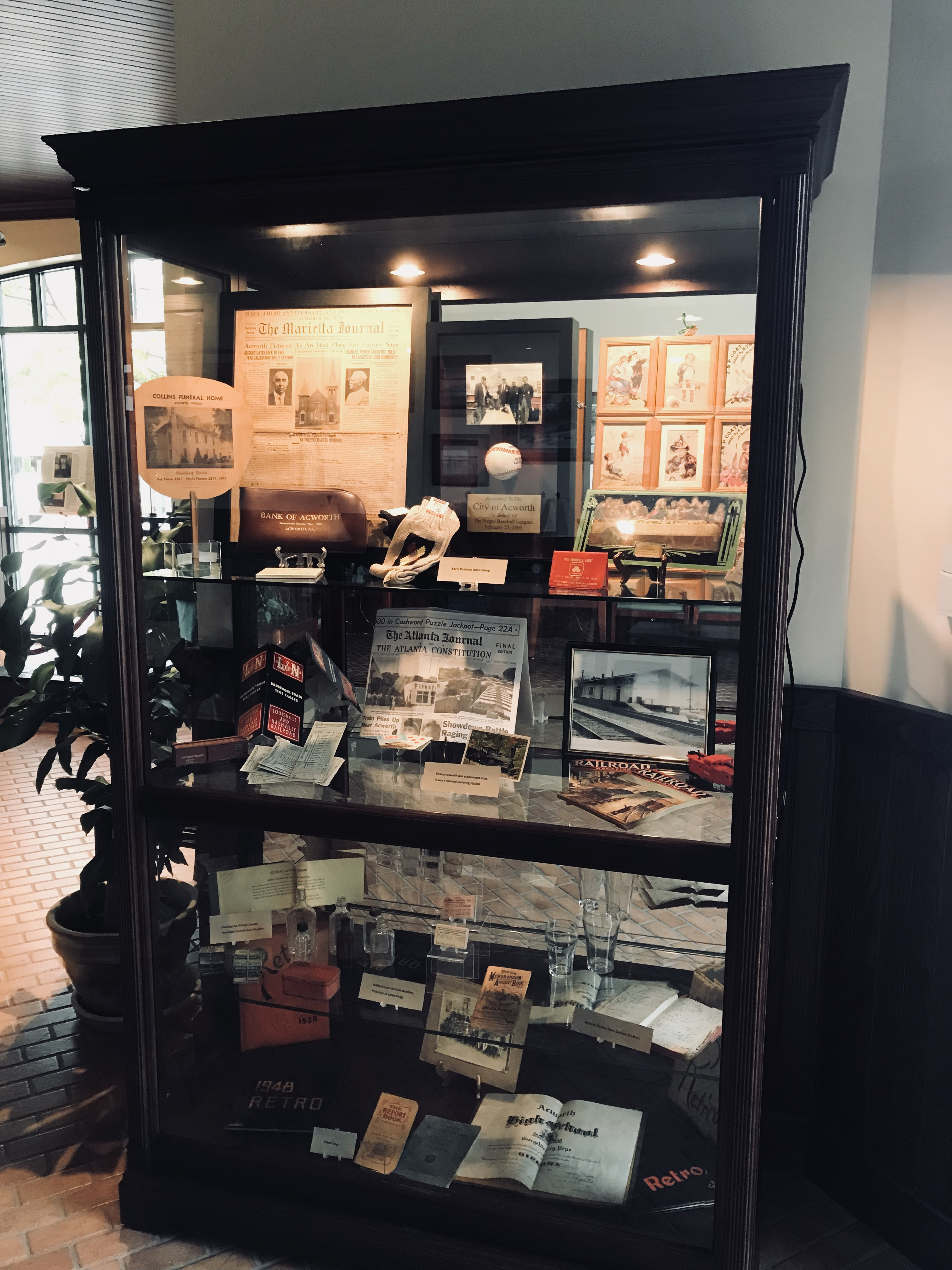 Image of Historic Society Display Cabinet