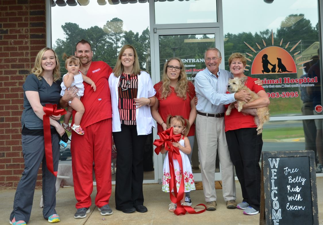 Image of Ribbon Cutting for Mills Animal Hospital