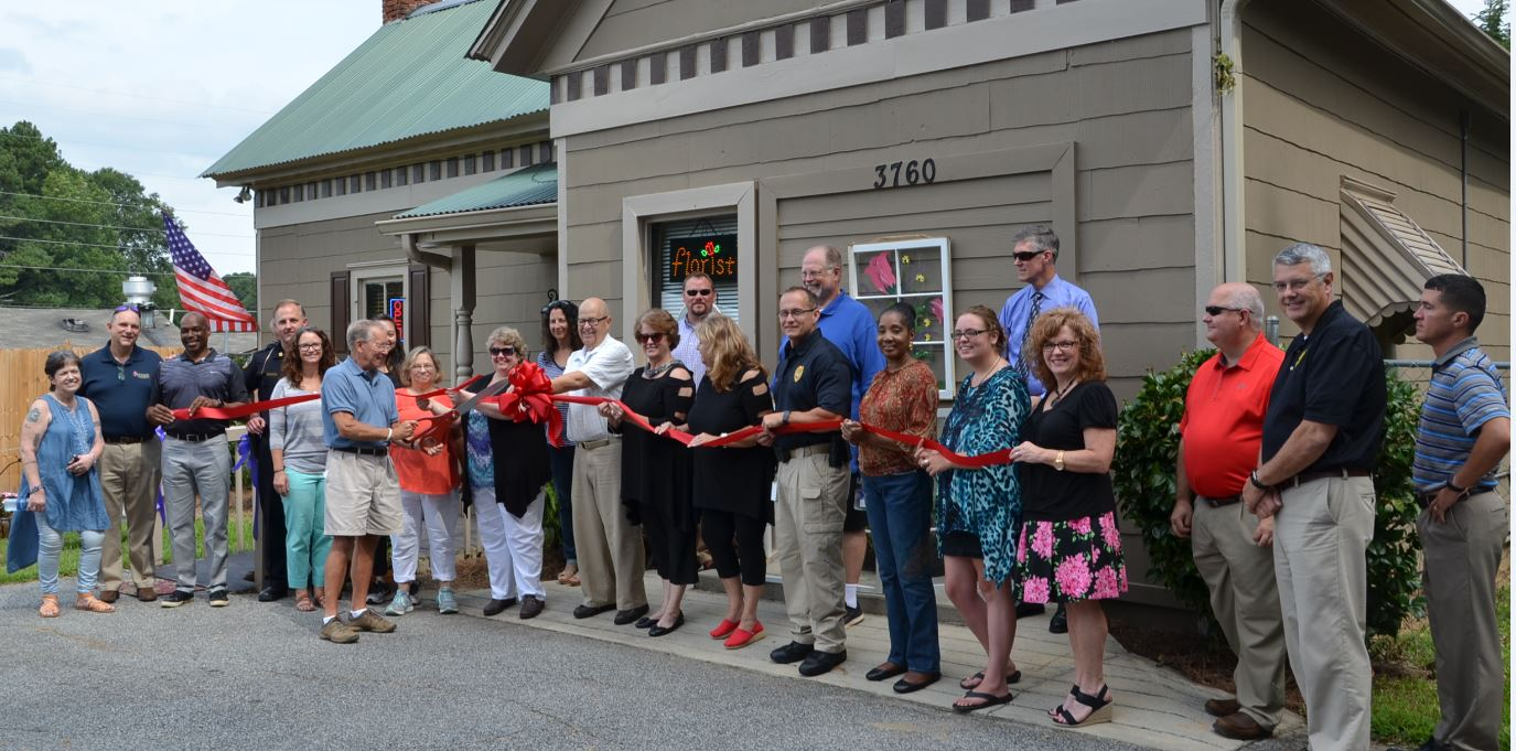 Image of Ribbon Cutting for Tilted Tulip