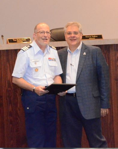 Image of Proclamation to the Coast Guard Auxiliary in Recognition of National Safe Boating Week, May 20-26, 2017