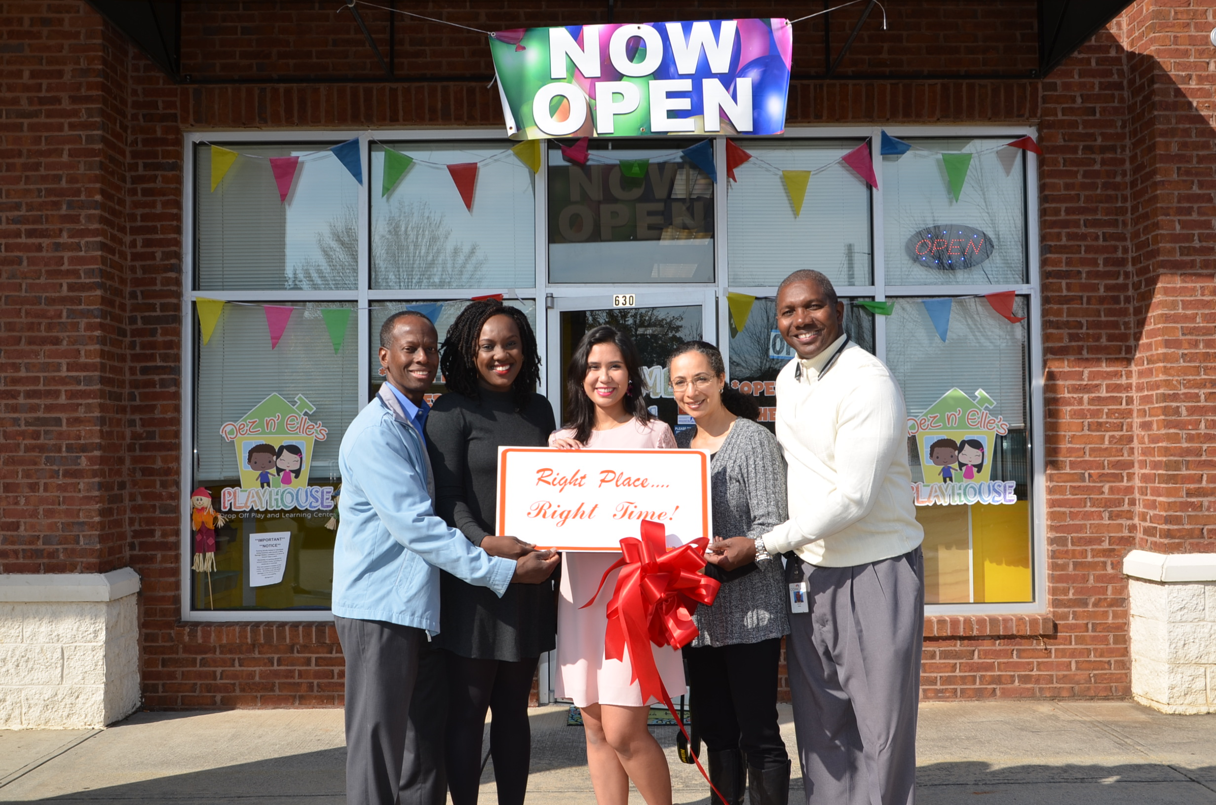 Ribbon Cutting for Dez n' Elles Playhouse