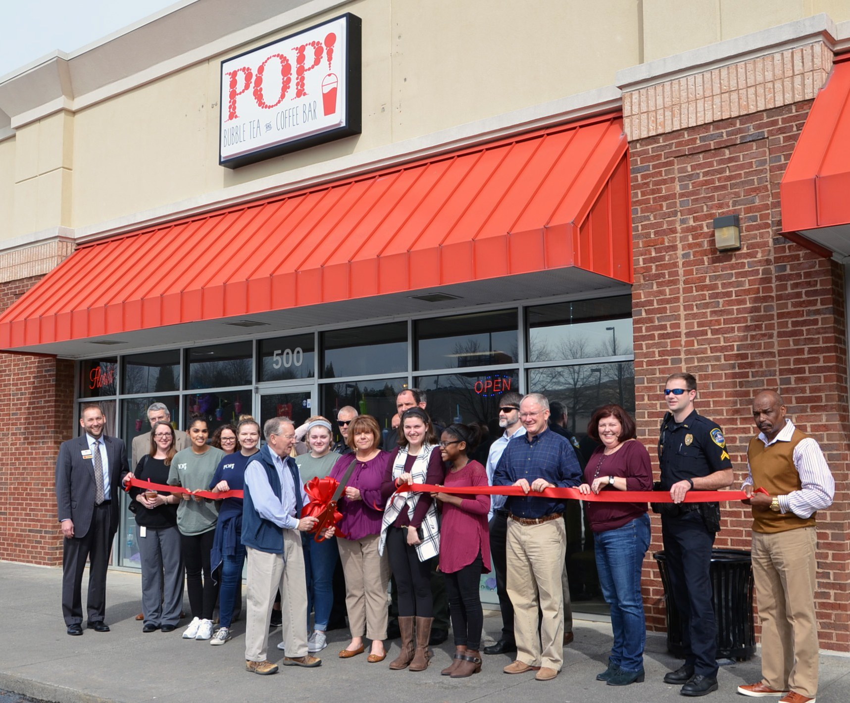 Image of Ribbon Cutting for POP Bubble Tea