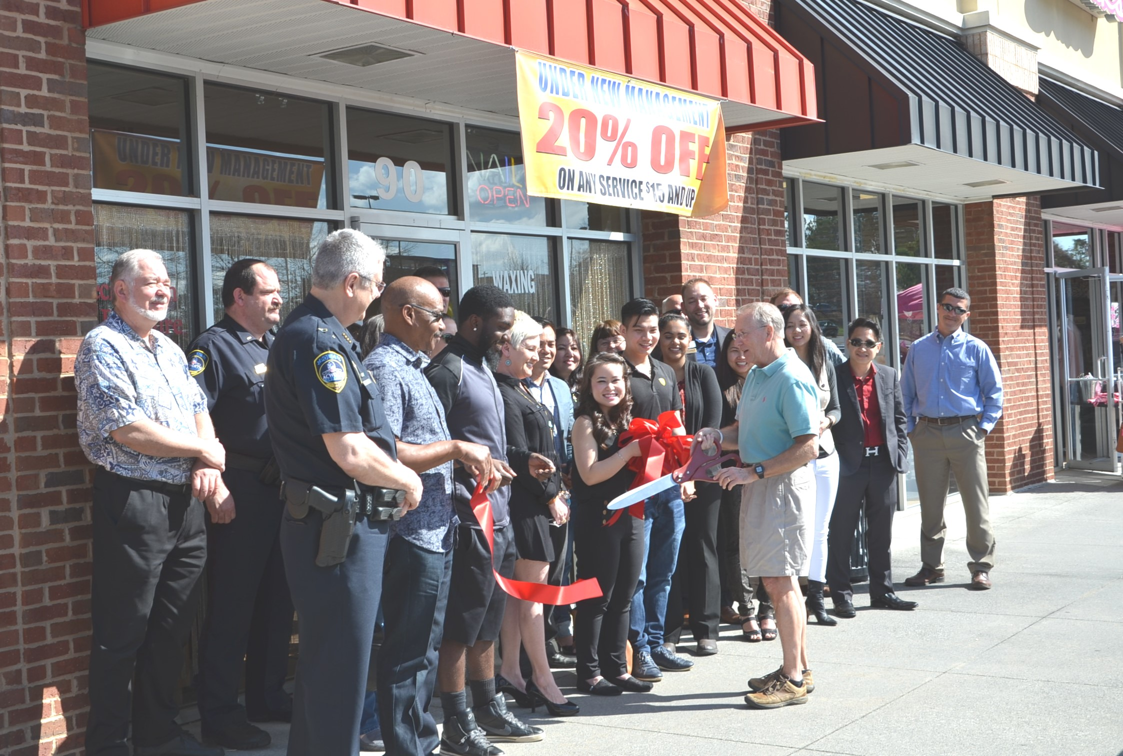 Image of Ribbon Cutting for Serene Nail and Spa