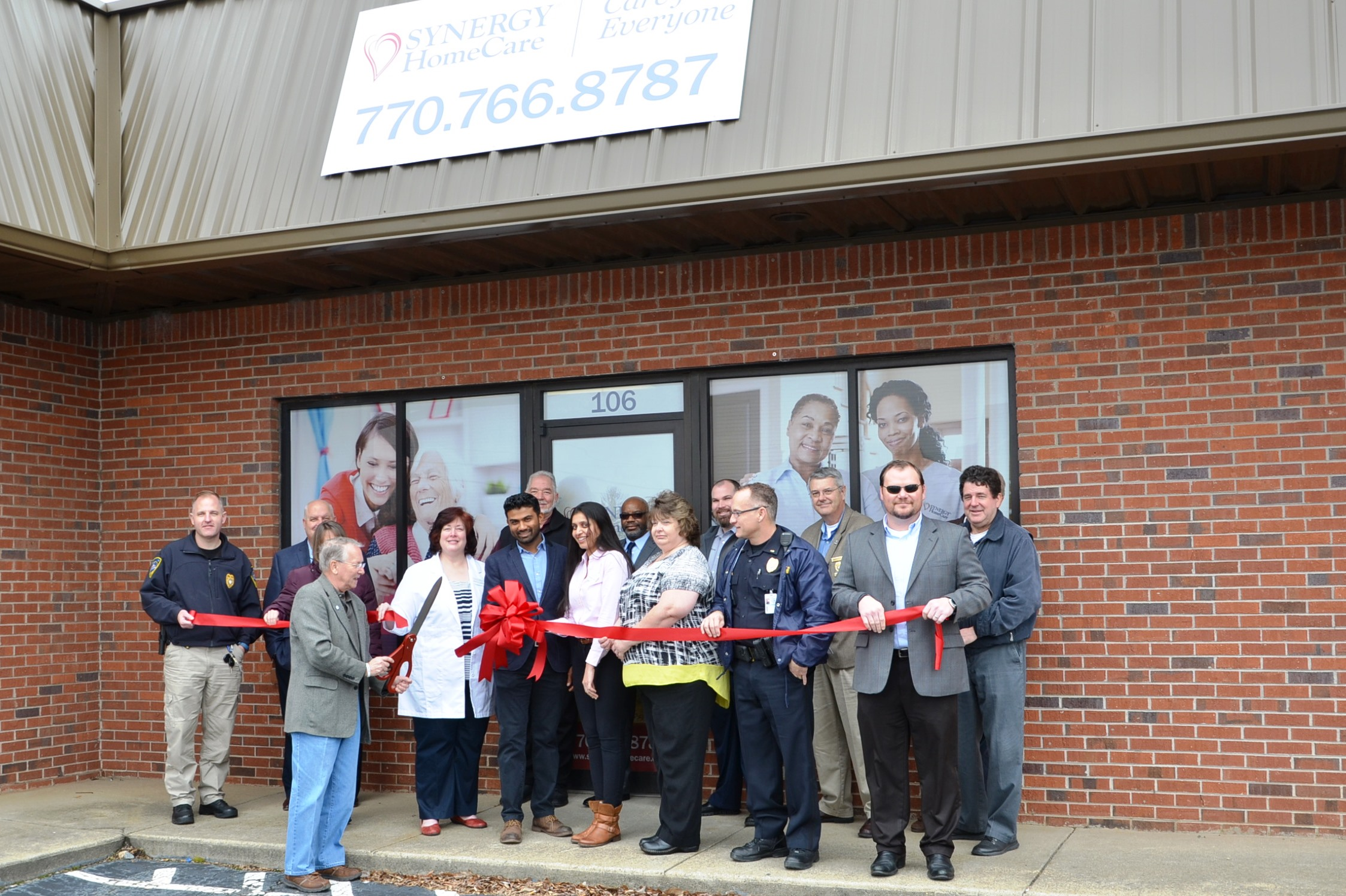 Image of Ribbon Cutting for Synergy Home Care