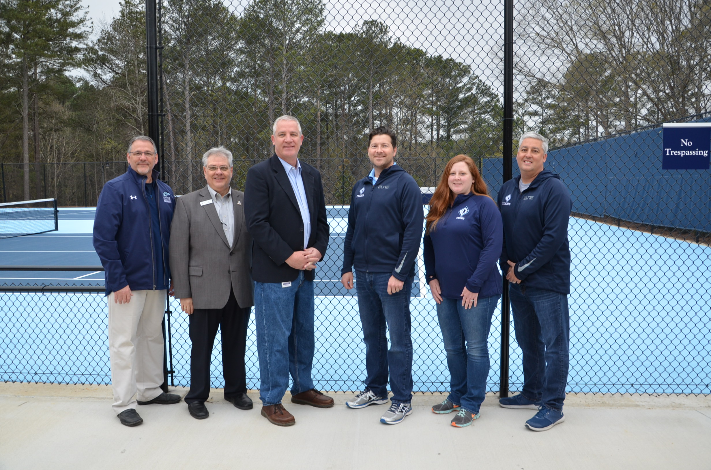 Image of Ribbon Cutting at Tennis Court