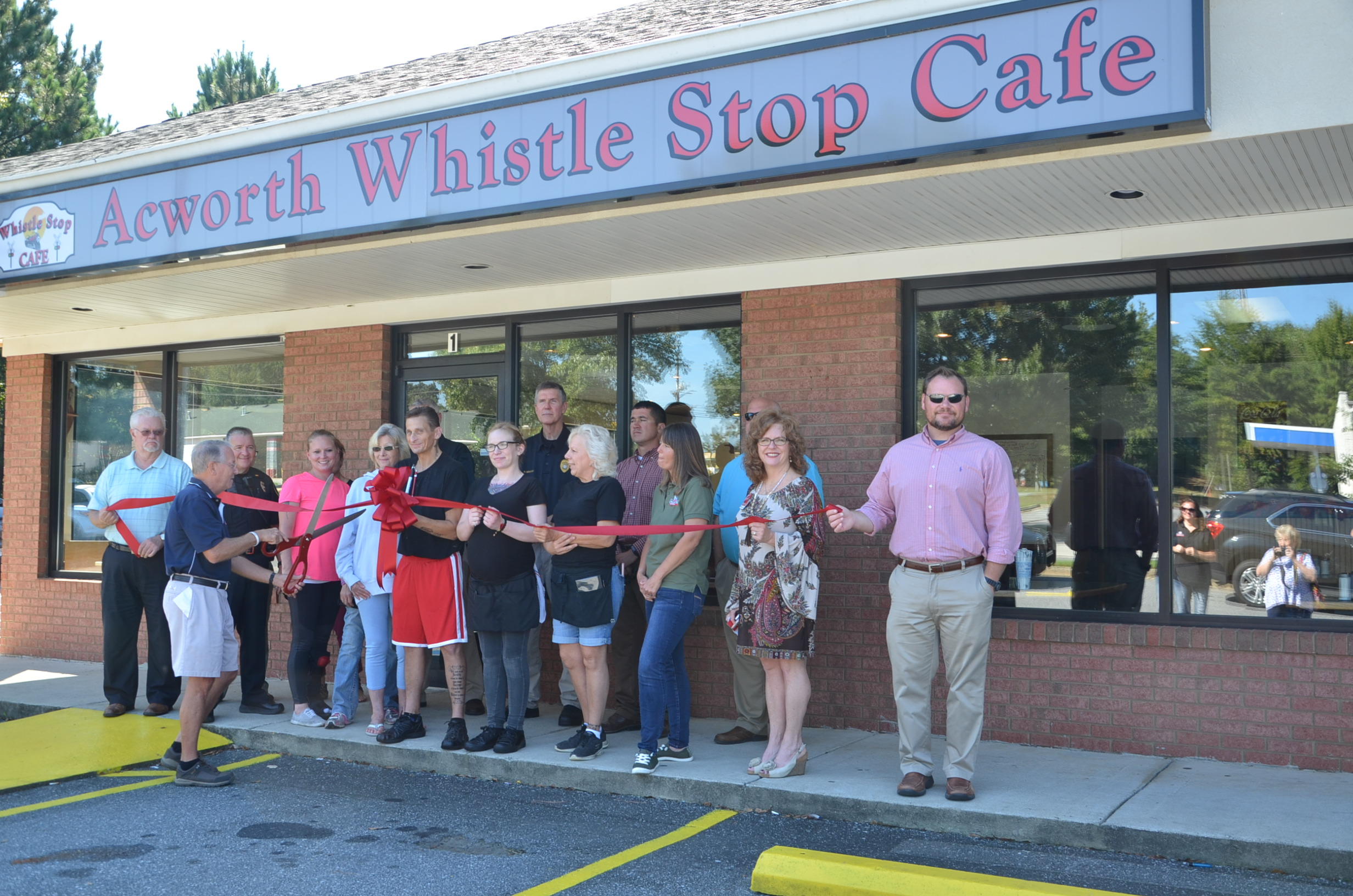 Image of Ribbon Cutting for Whistle Stop Cafe