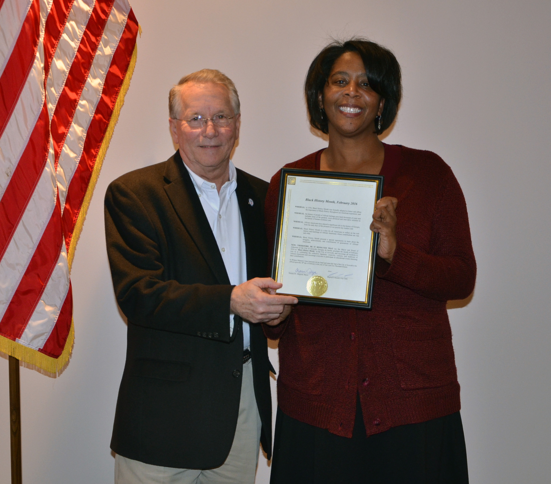 2016 Black History Month Proclamation to Nicole Knotts 4