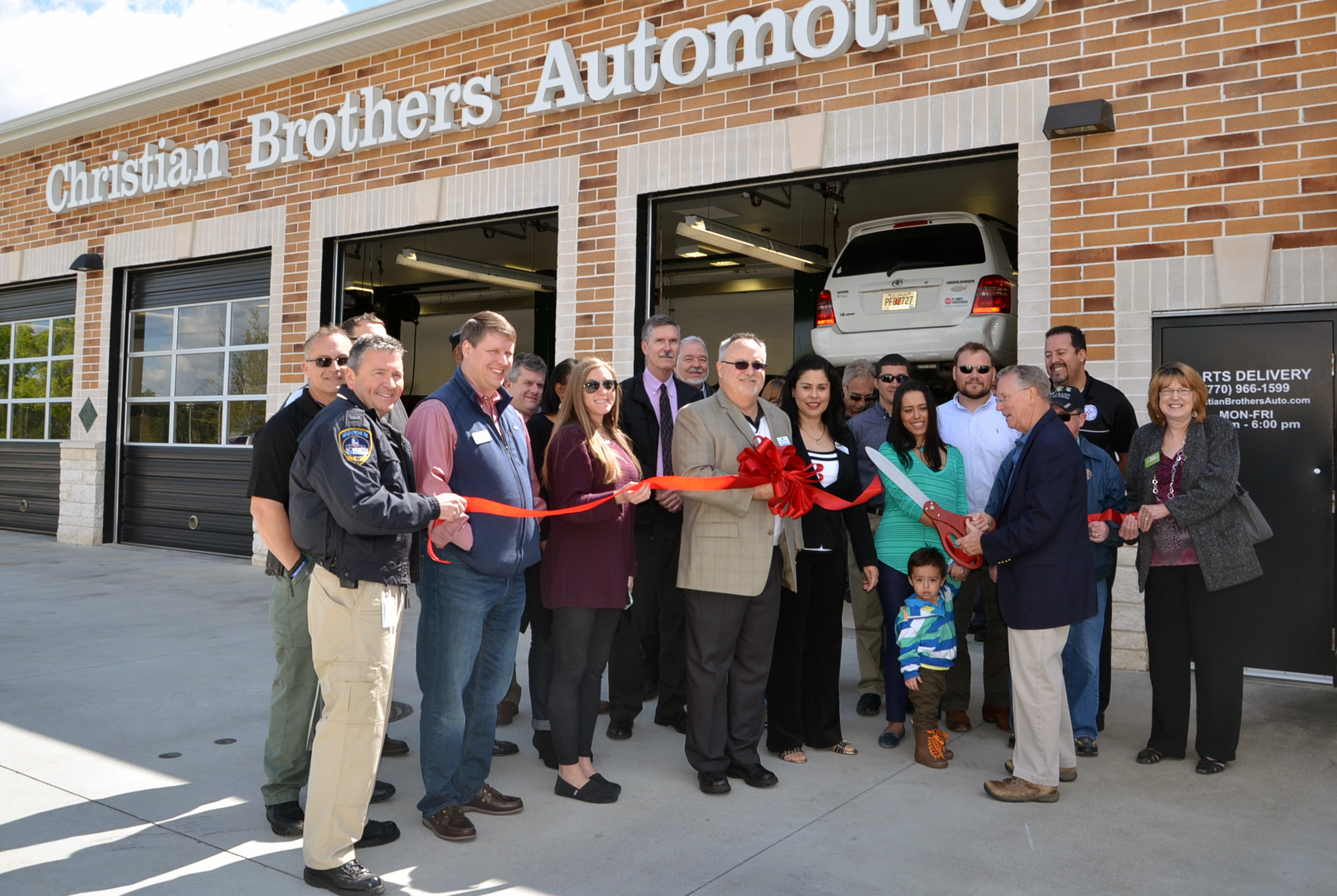 Christian Brothers Auto Ribbon Cutting2