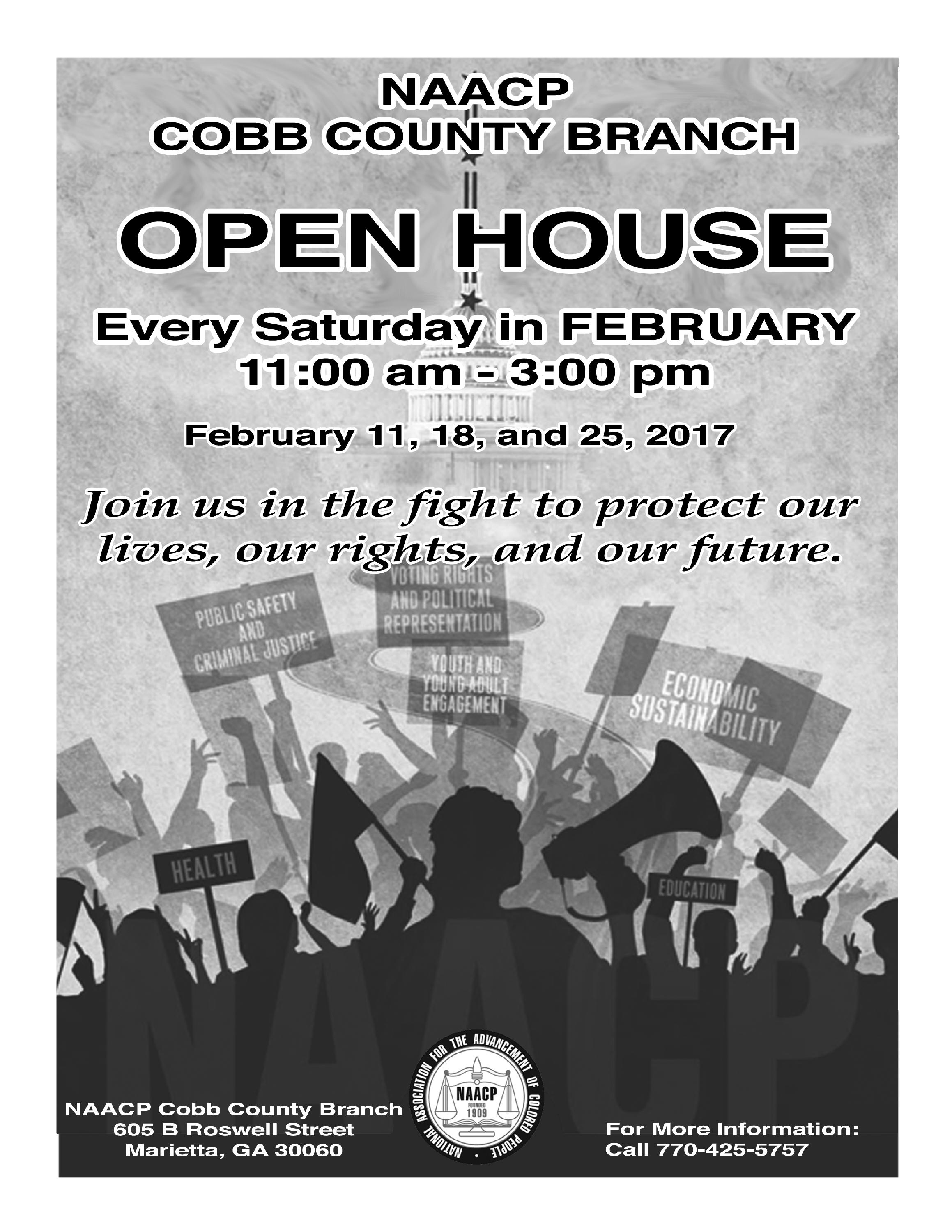 Poster of NAACP Open House