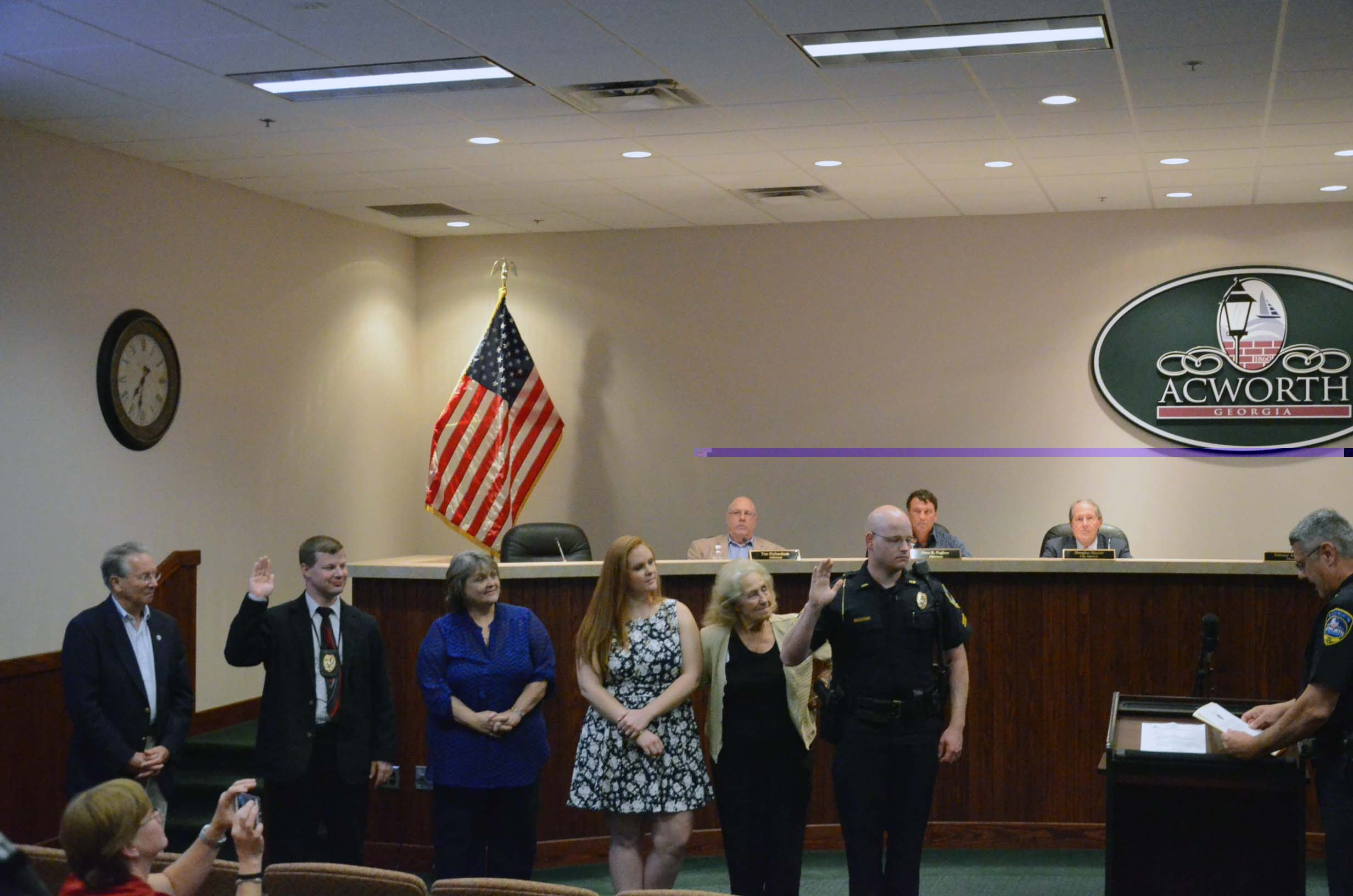 Oath of Office for Corporal East and Lieutenant Sampson 2
