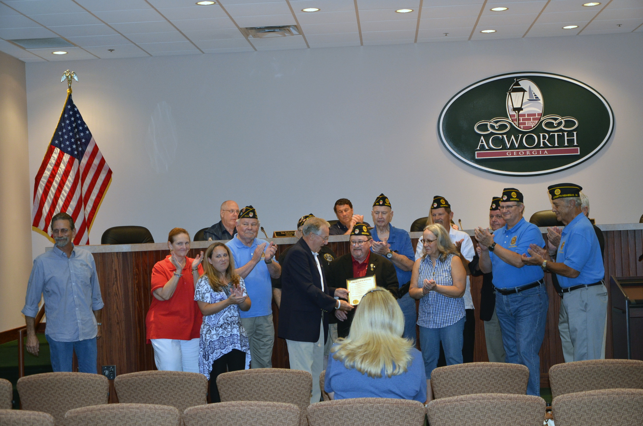 Proclamation recognizing Ron Asby for his service as the American Legion North Cobb Post 304 Commander