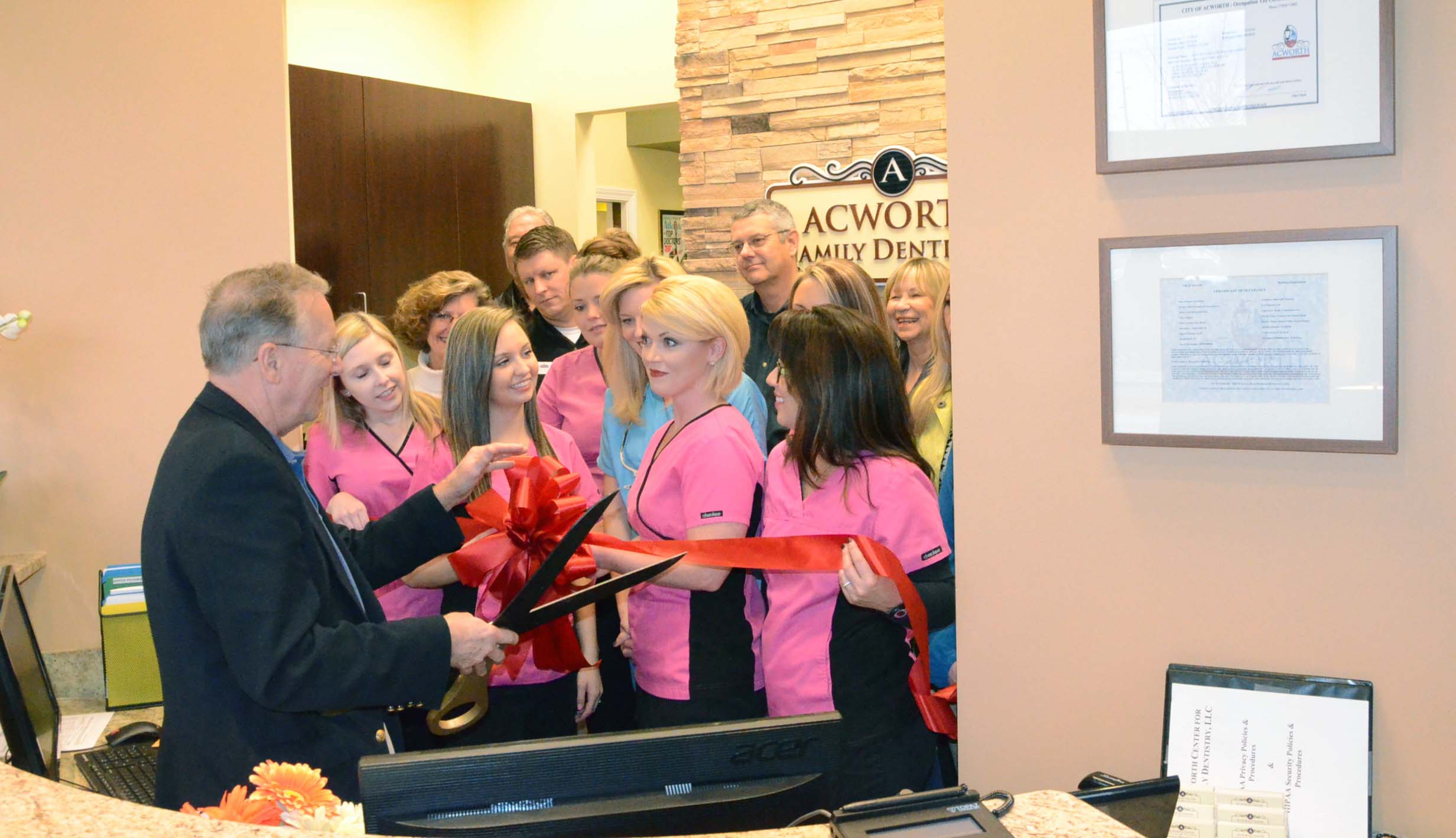 Ribbon Cutting at Acworth Center for Family Dentistry 1