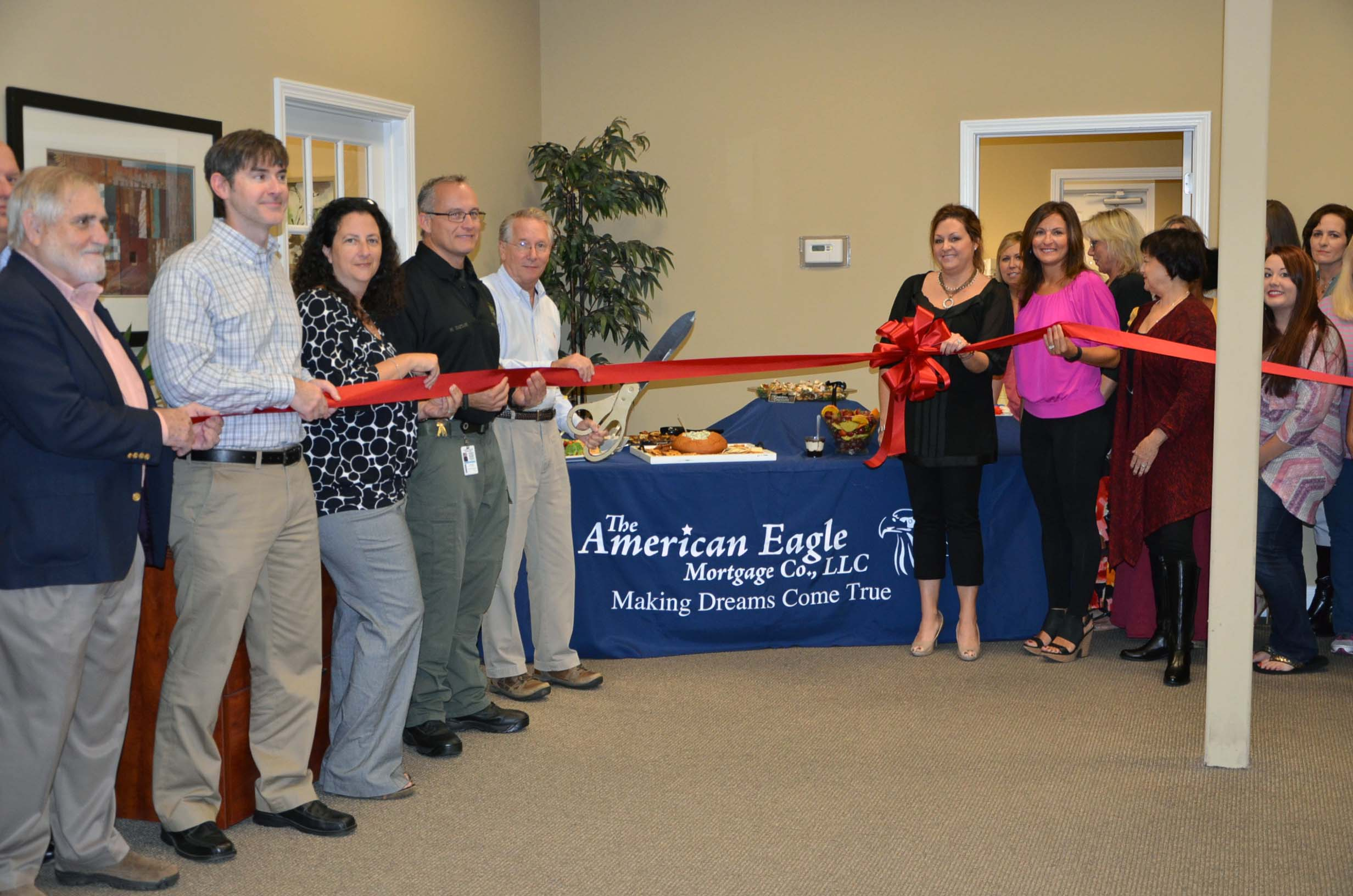 Ribbon Cutting for American Eagle Mortgage 1