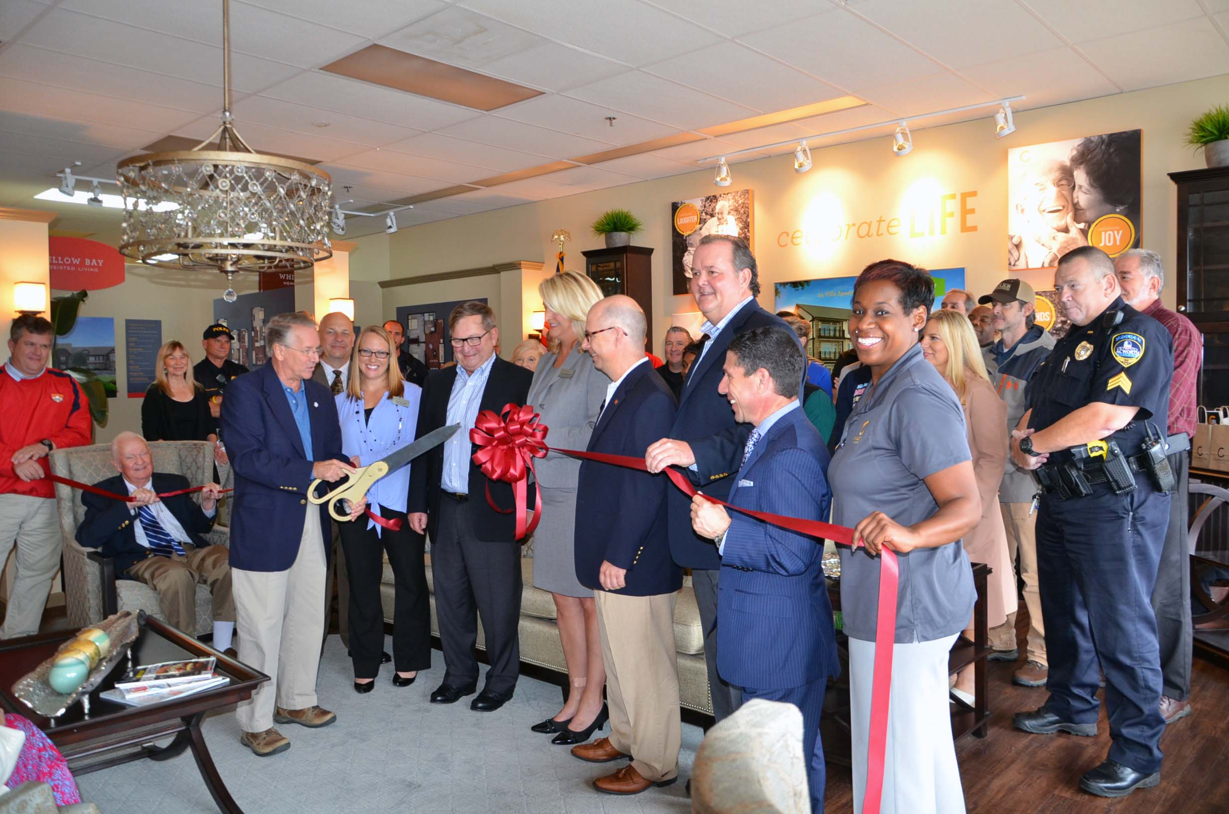 Ribbon Cutting for Celebration Village 3