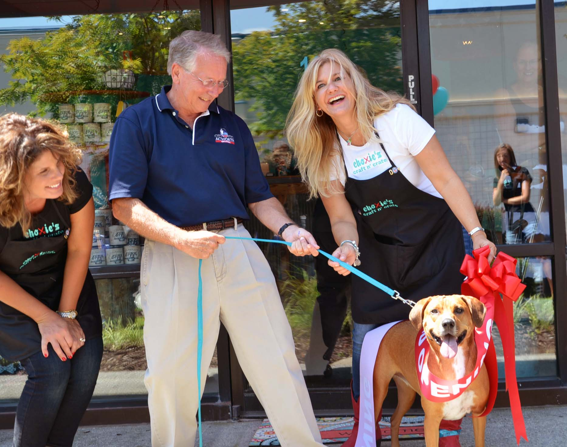 Ribbon Cutting for Choxie's Craft N' Crate 2