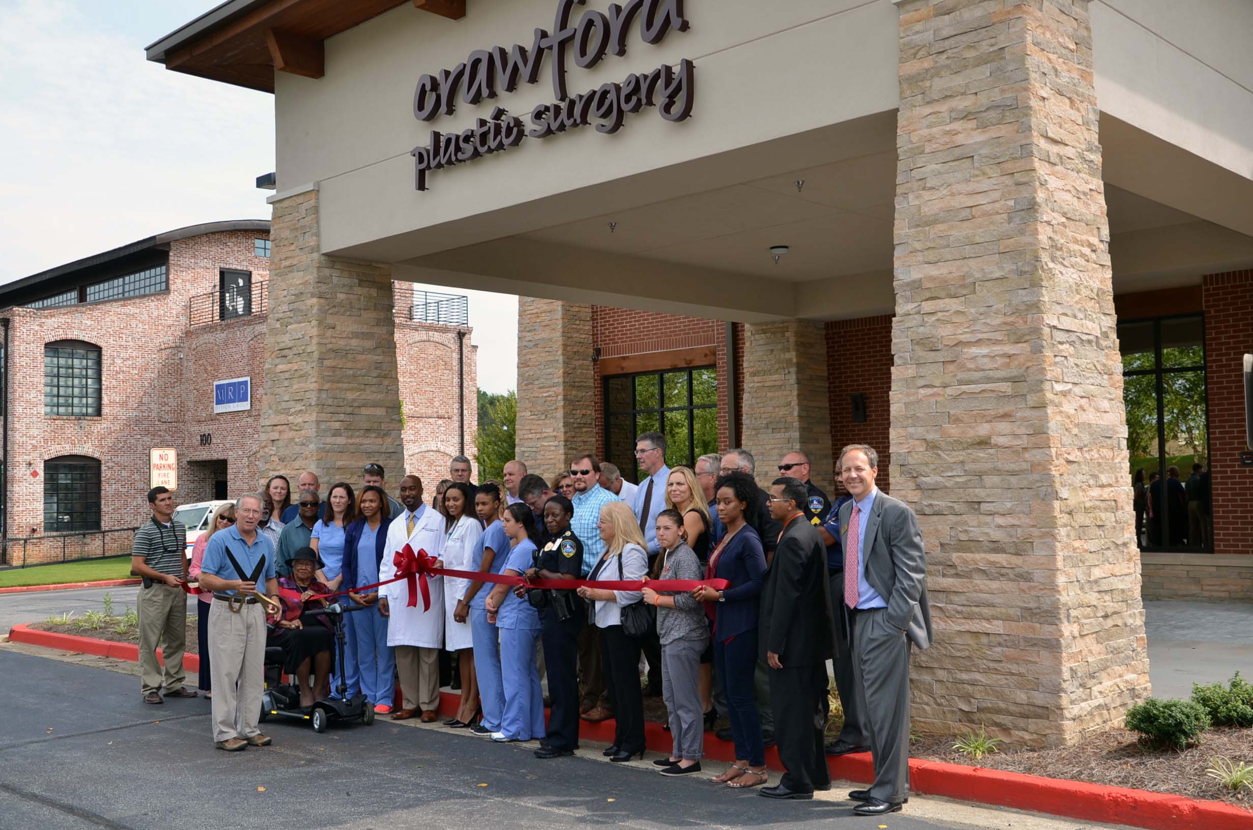 Ribbon Cutting for Crawford Plastic Surgery 1