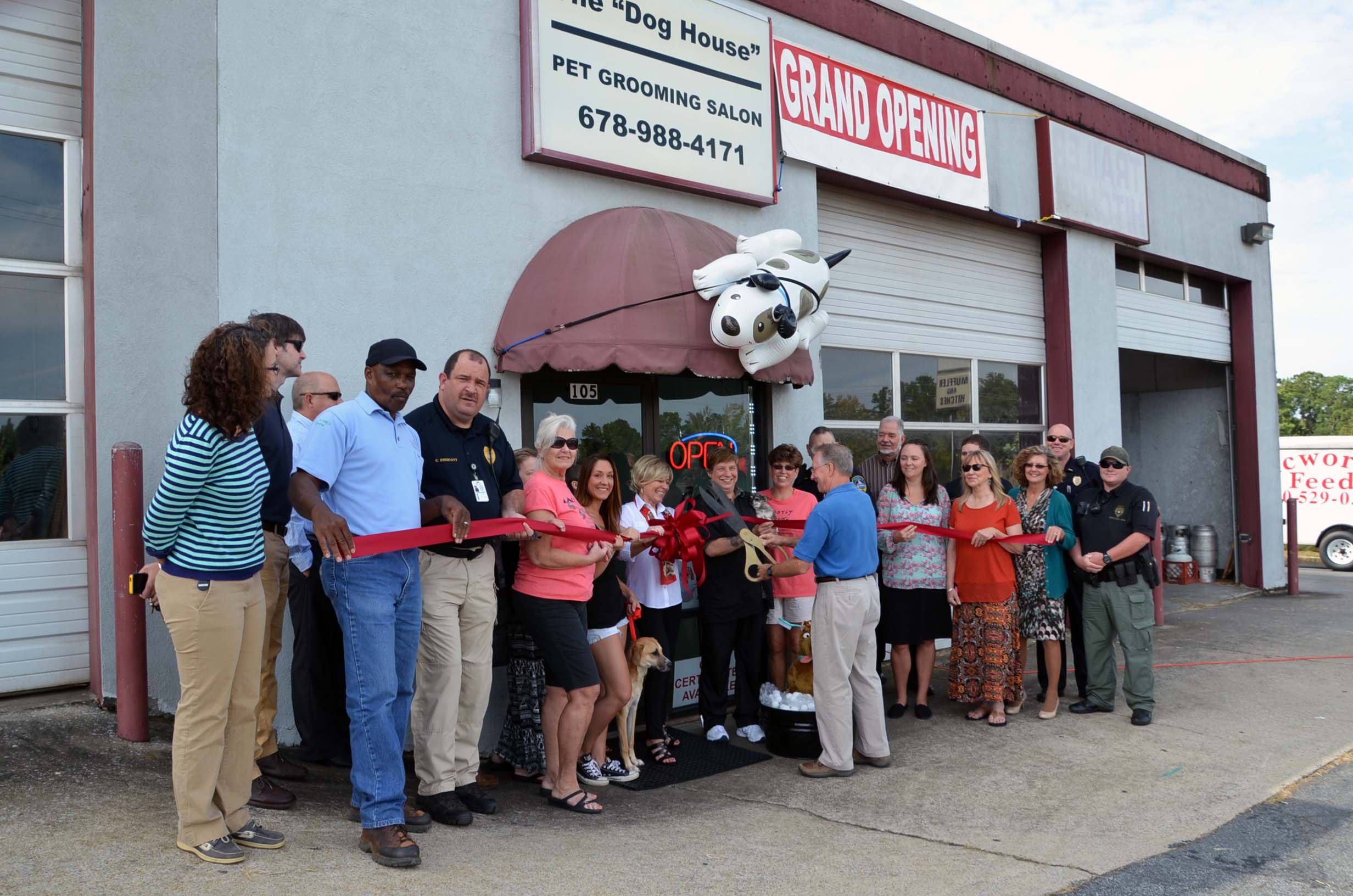 Ribbon Cutting for Dog House1