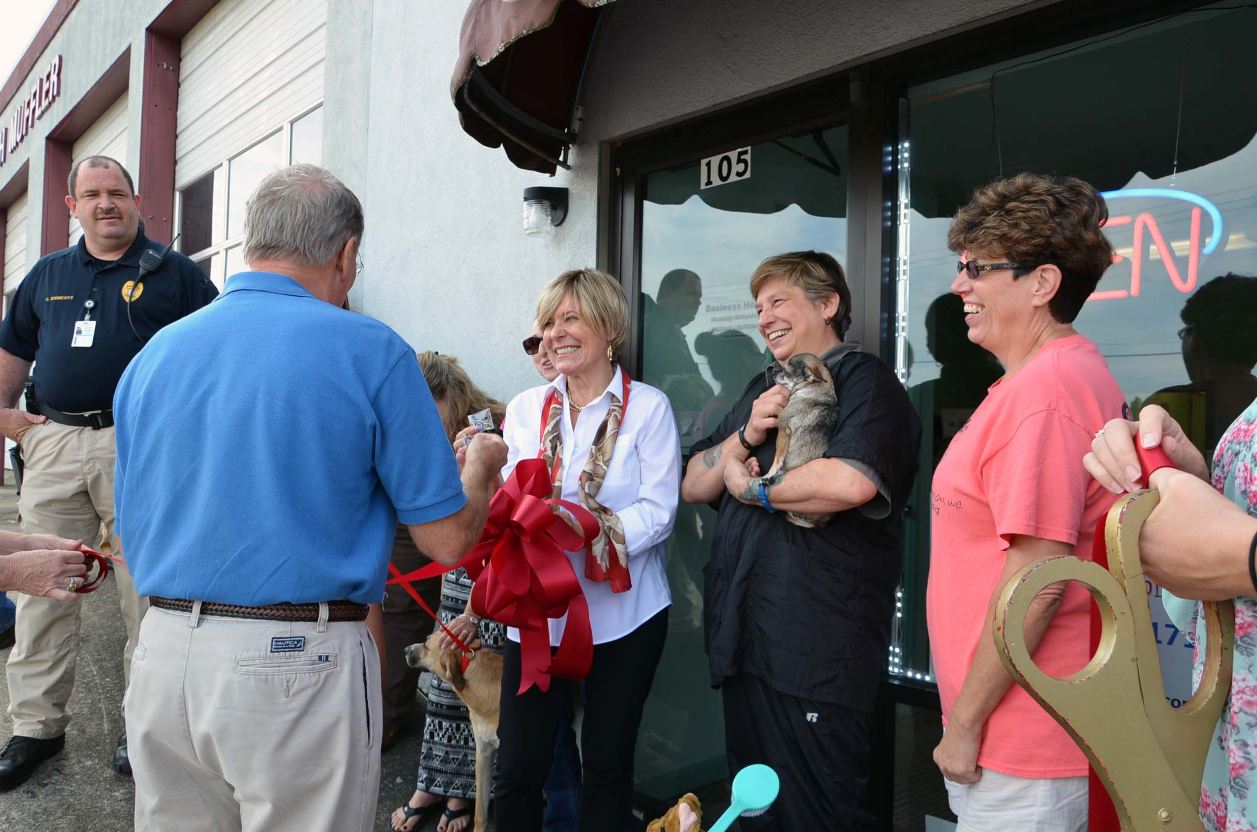 Ribbon Cutting for Dog House2