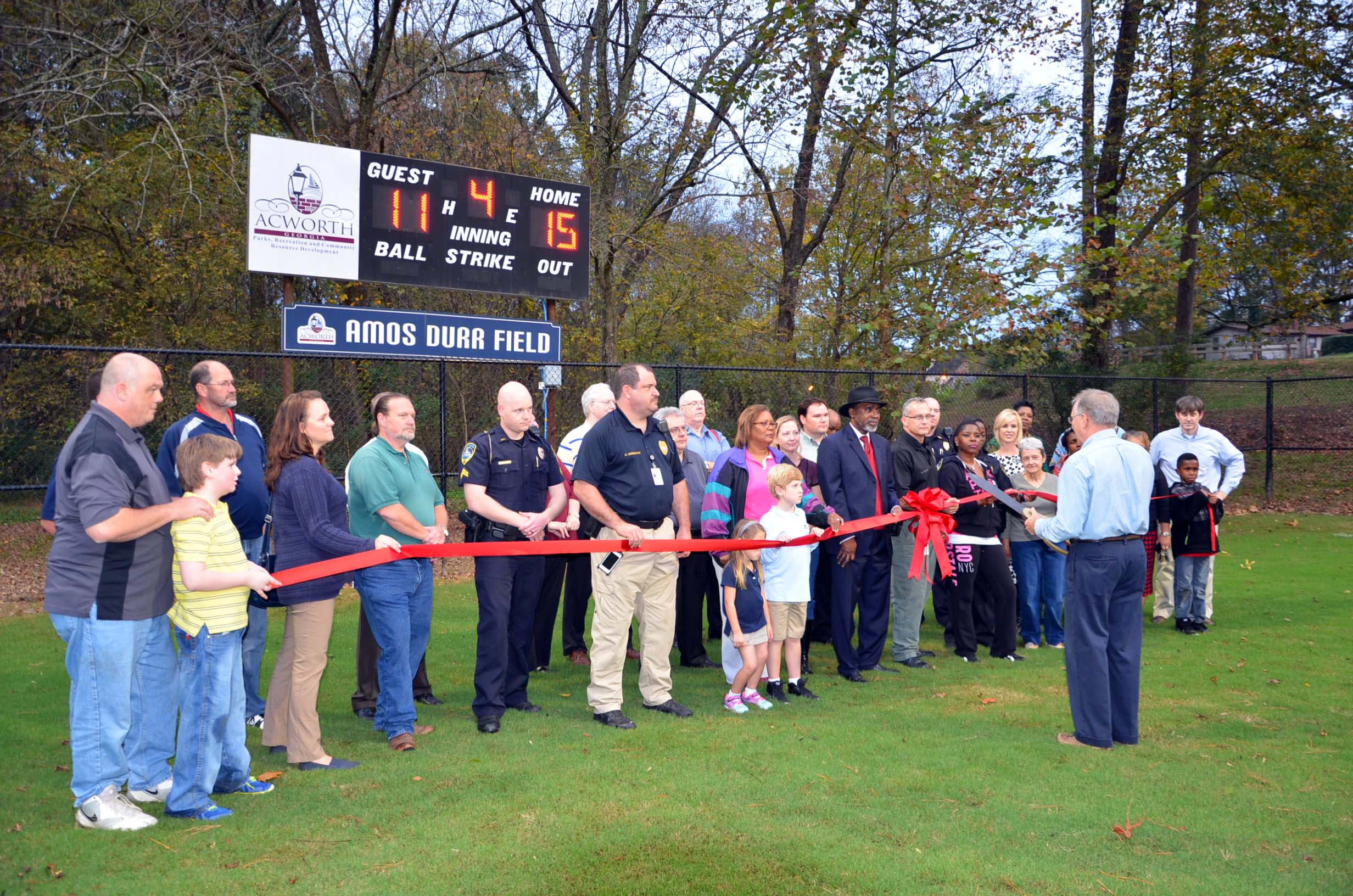 Ribbon Cutting for Durr Field1