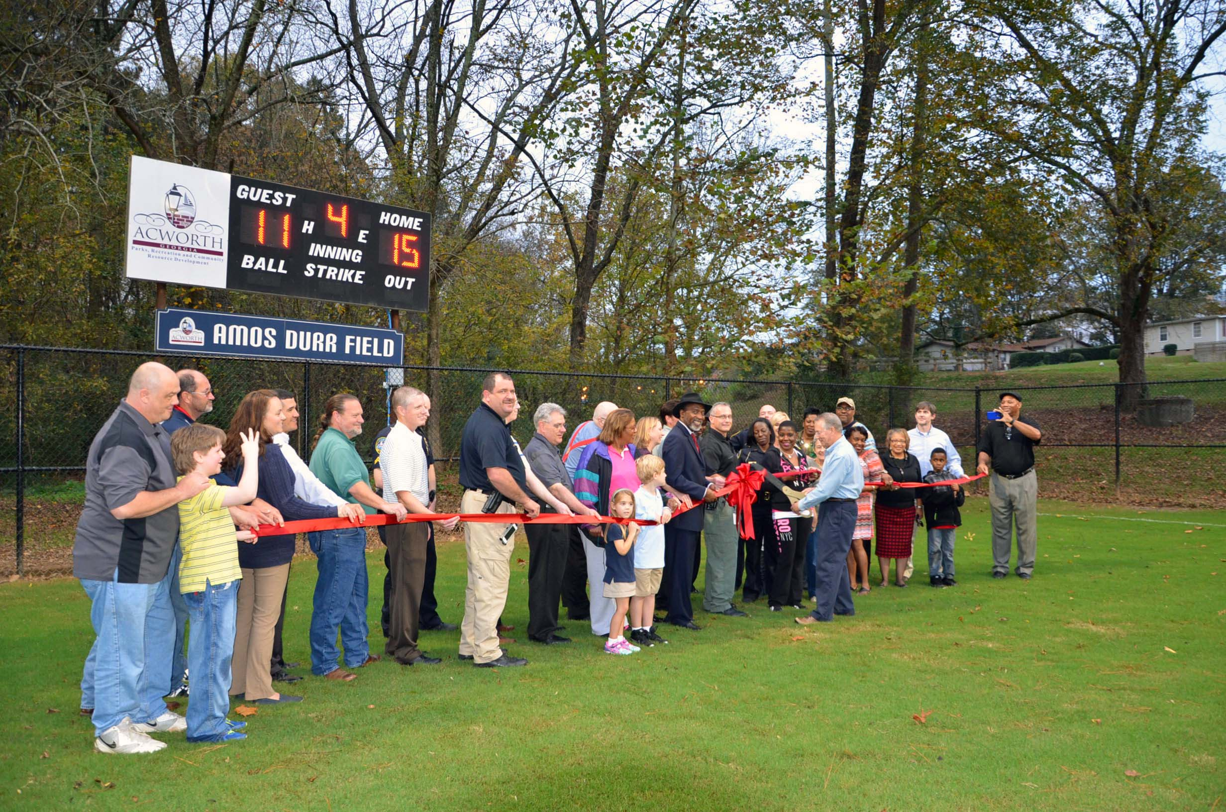 Ribbon Cutting for Durr Field3