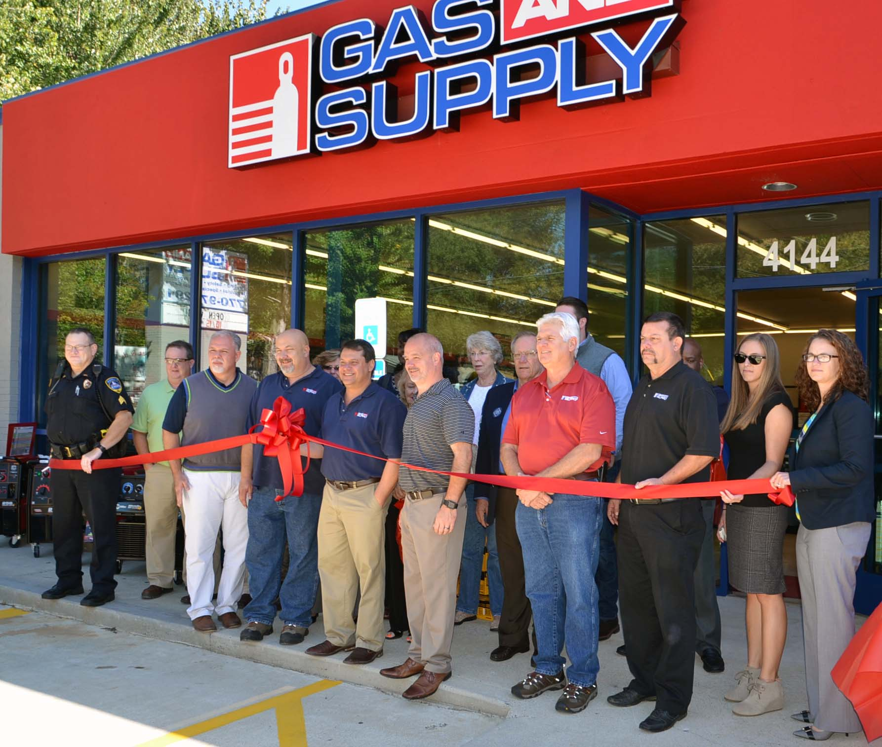 Ribbon Cutting for Gas & Supply 1