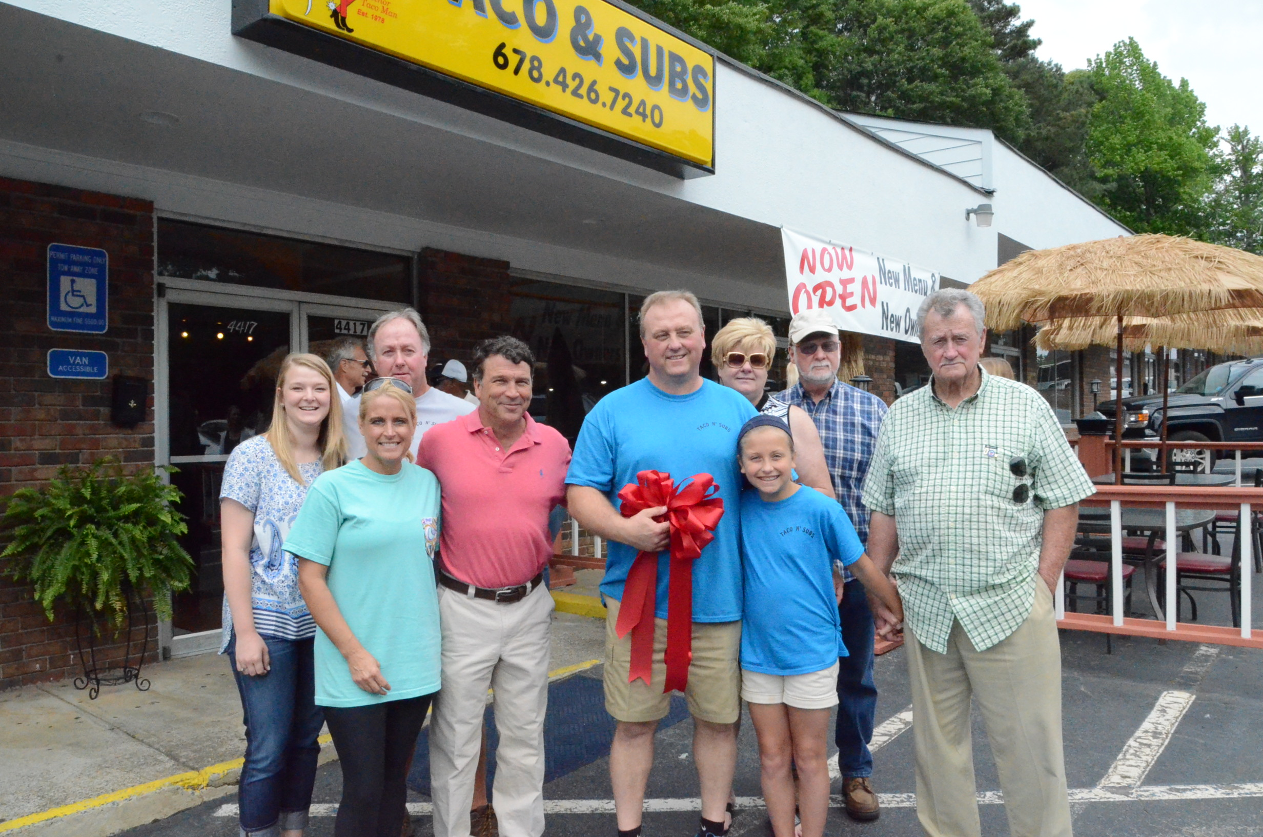Ribbon Cutting for Tacos N' Subs 1