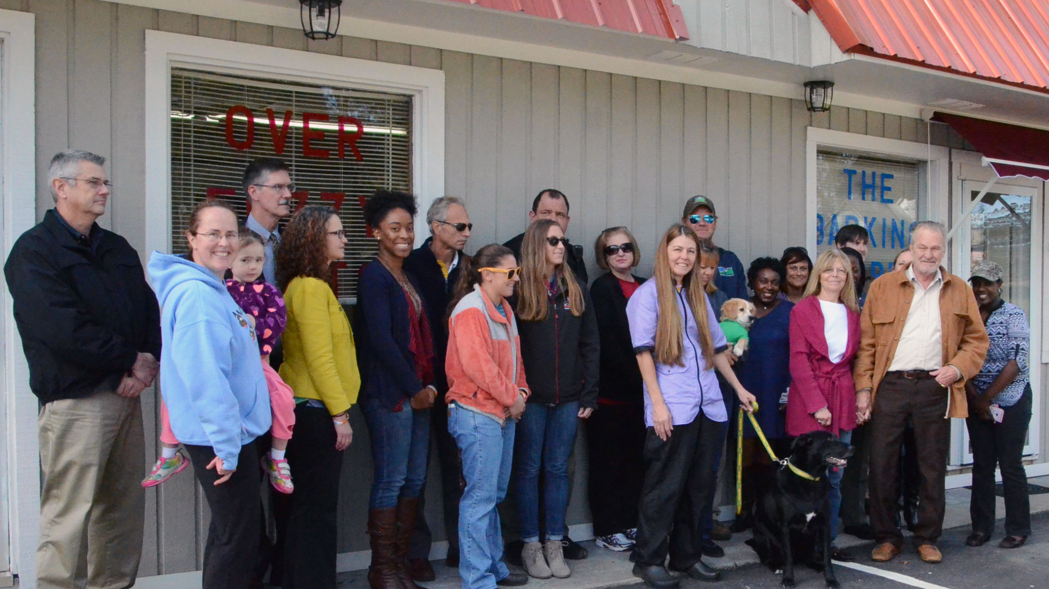 Ribbon Cutting for The Barking Barber1