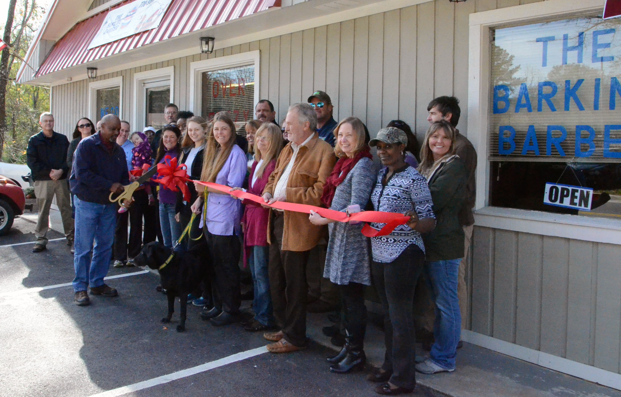 Ribbon Cutting for The Barking Barber2