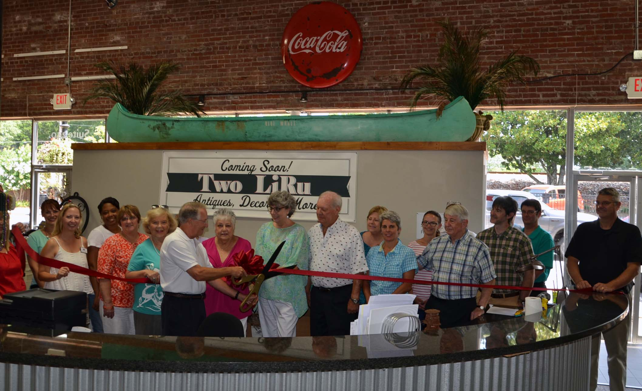 Ribbon Cutting for Two LiRu Antiques and Decor1
