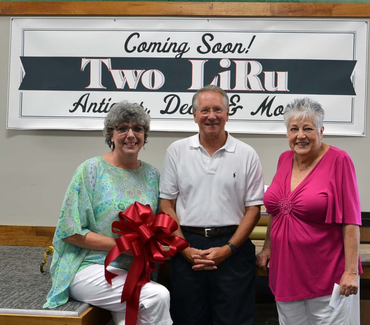 Ribbon Cutting for Two LiRu Antiques and Decor2