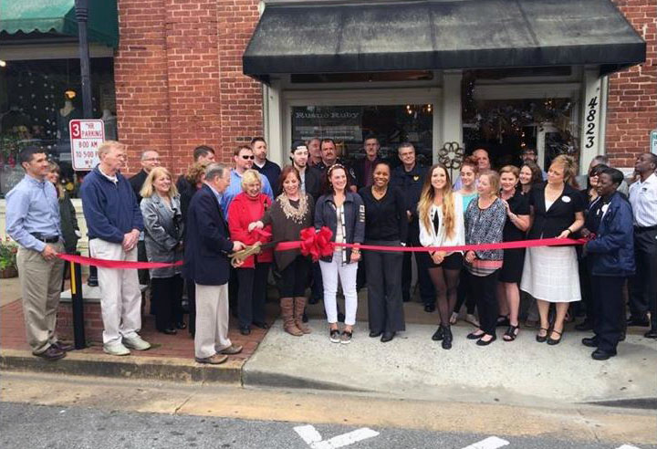 Rustic Ruby Ribbon Cutting 1