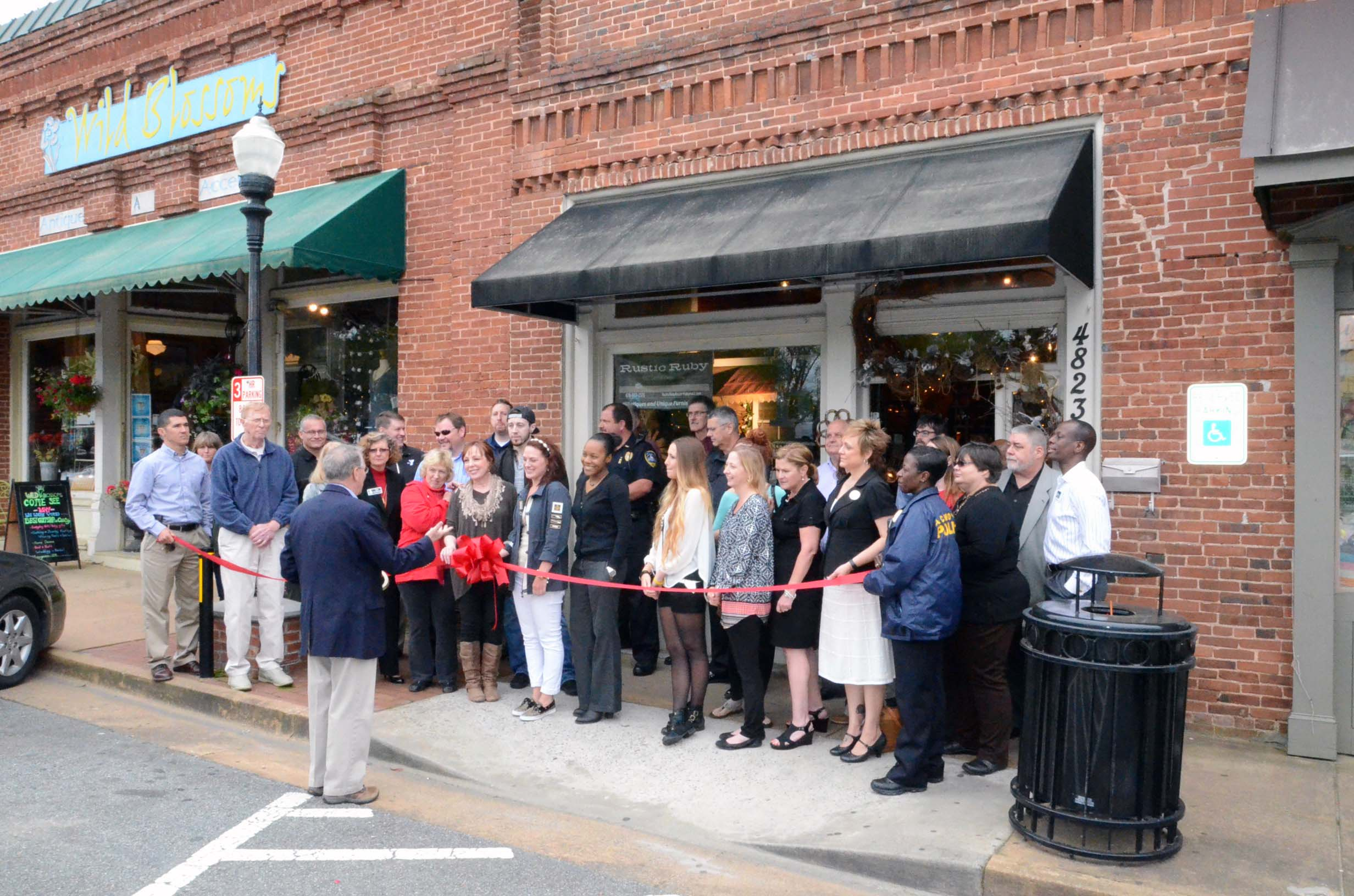 Rustic Ruby Ribbon Cutting 2