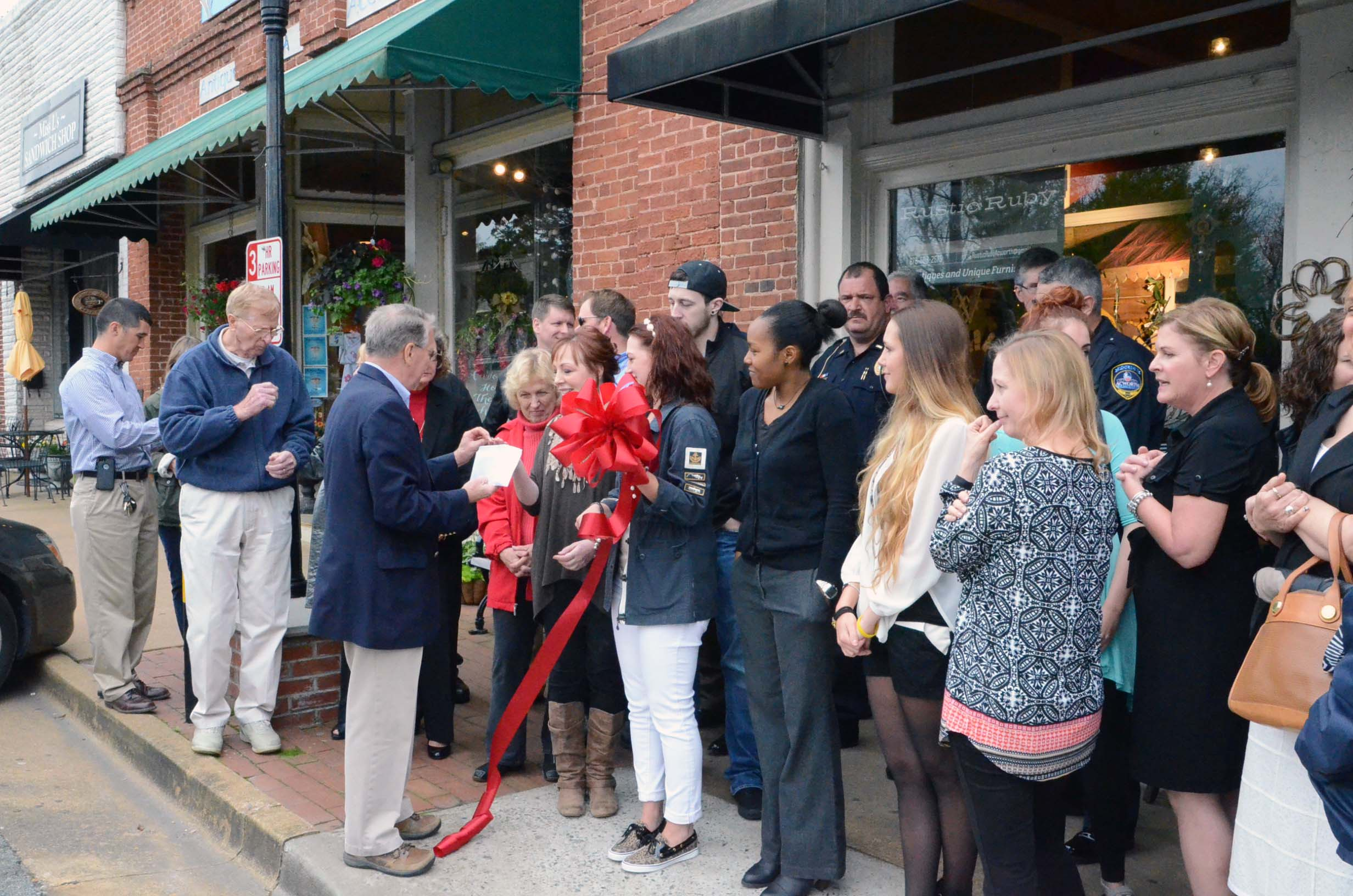 Rustic Ruby Ribbon Cutting 3