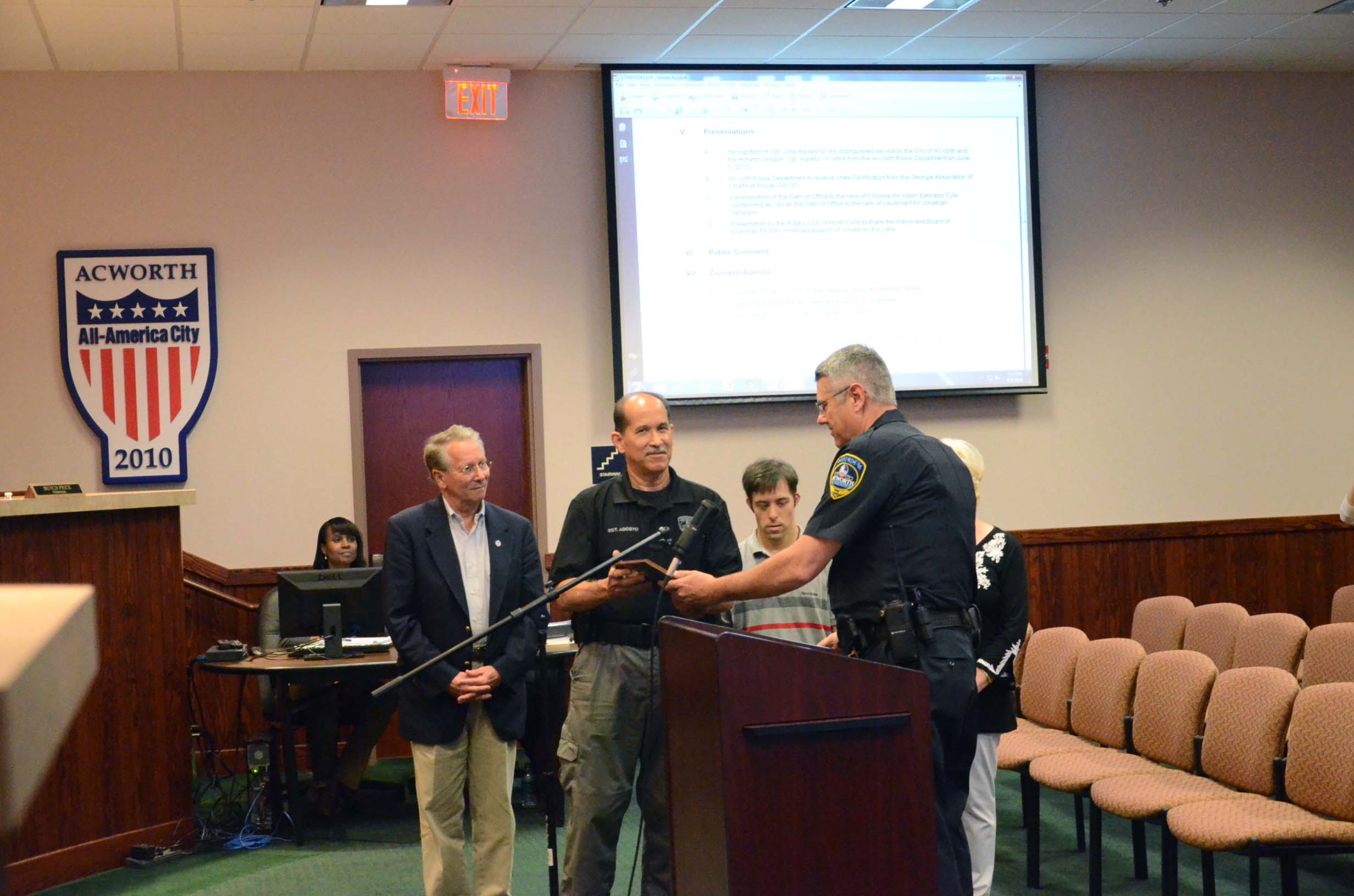Sgt. Jose Agosto Retires from Acworth Police Department 3