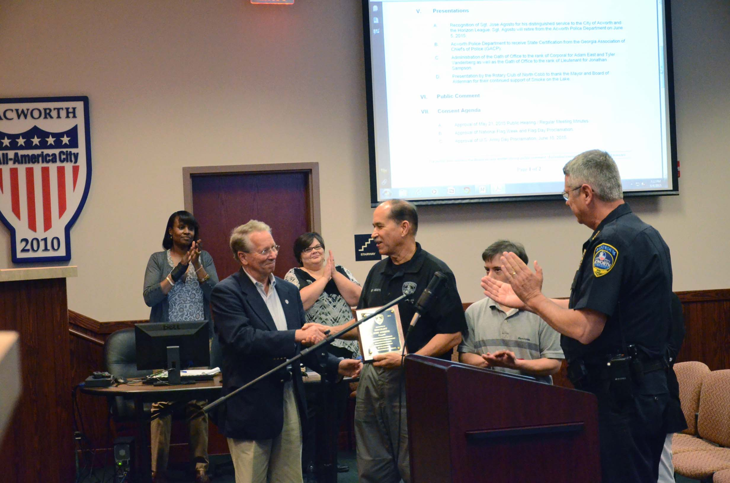 Sgt. Jose Agosto Retires from Acworth Police Department 4