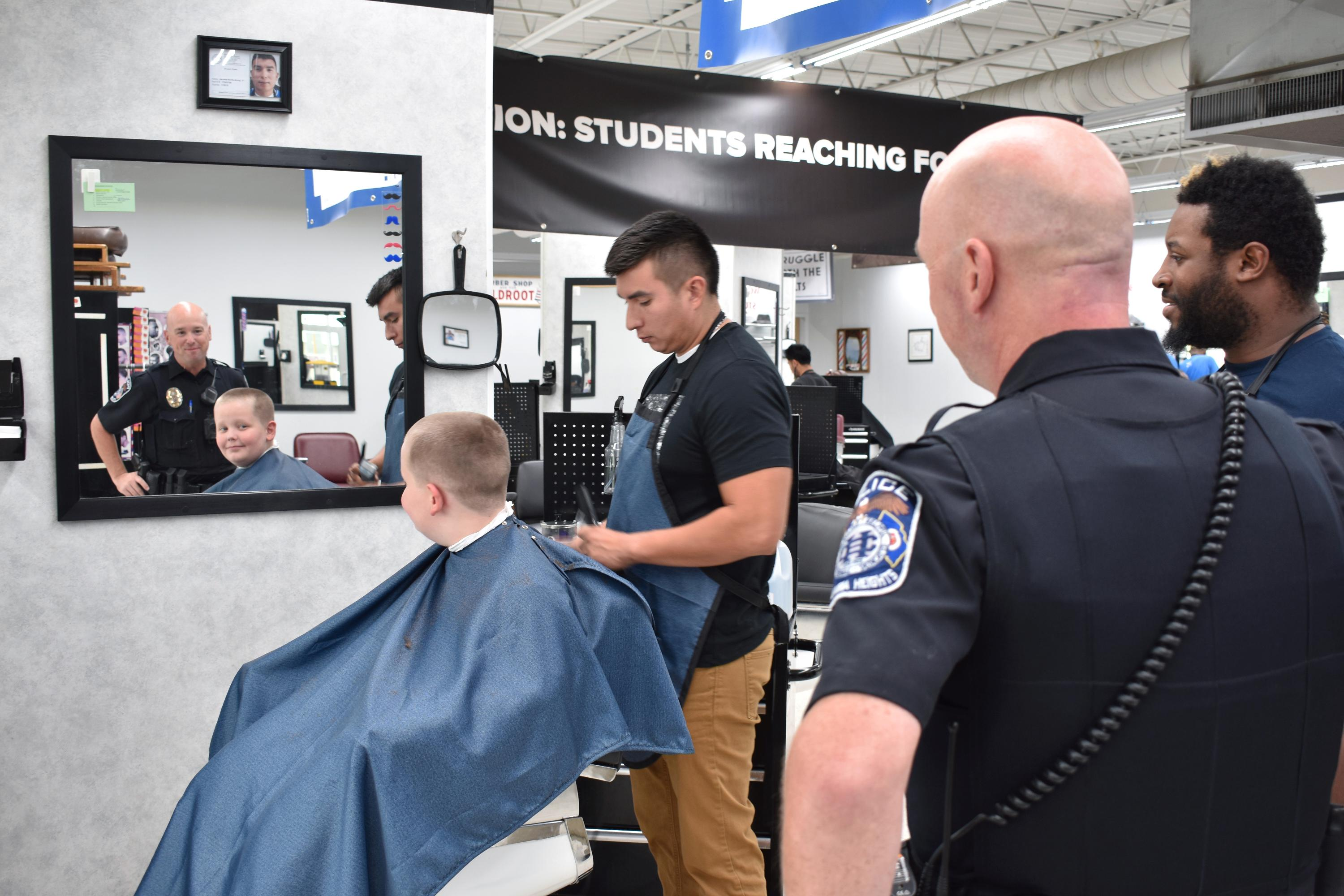 Cuts with a Cop with Jr. Kretzmann (5th grader)