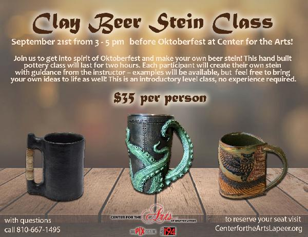Clay Beer Stein Postcard