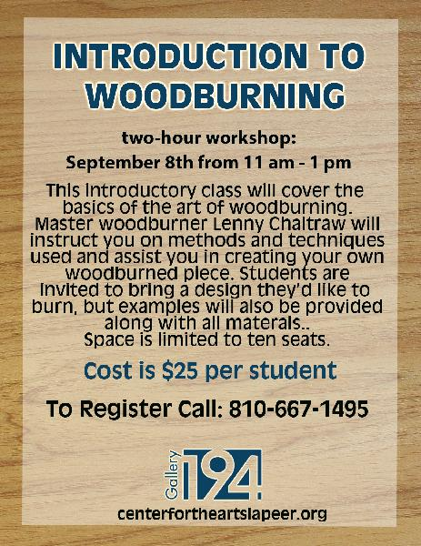 Woodburning Class Sept 18