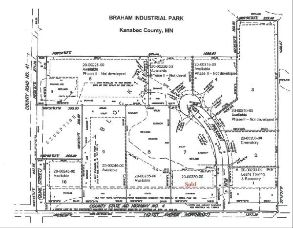 Plat Map_Braham Industrial Park