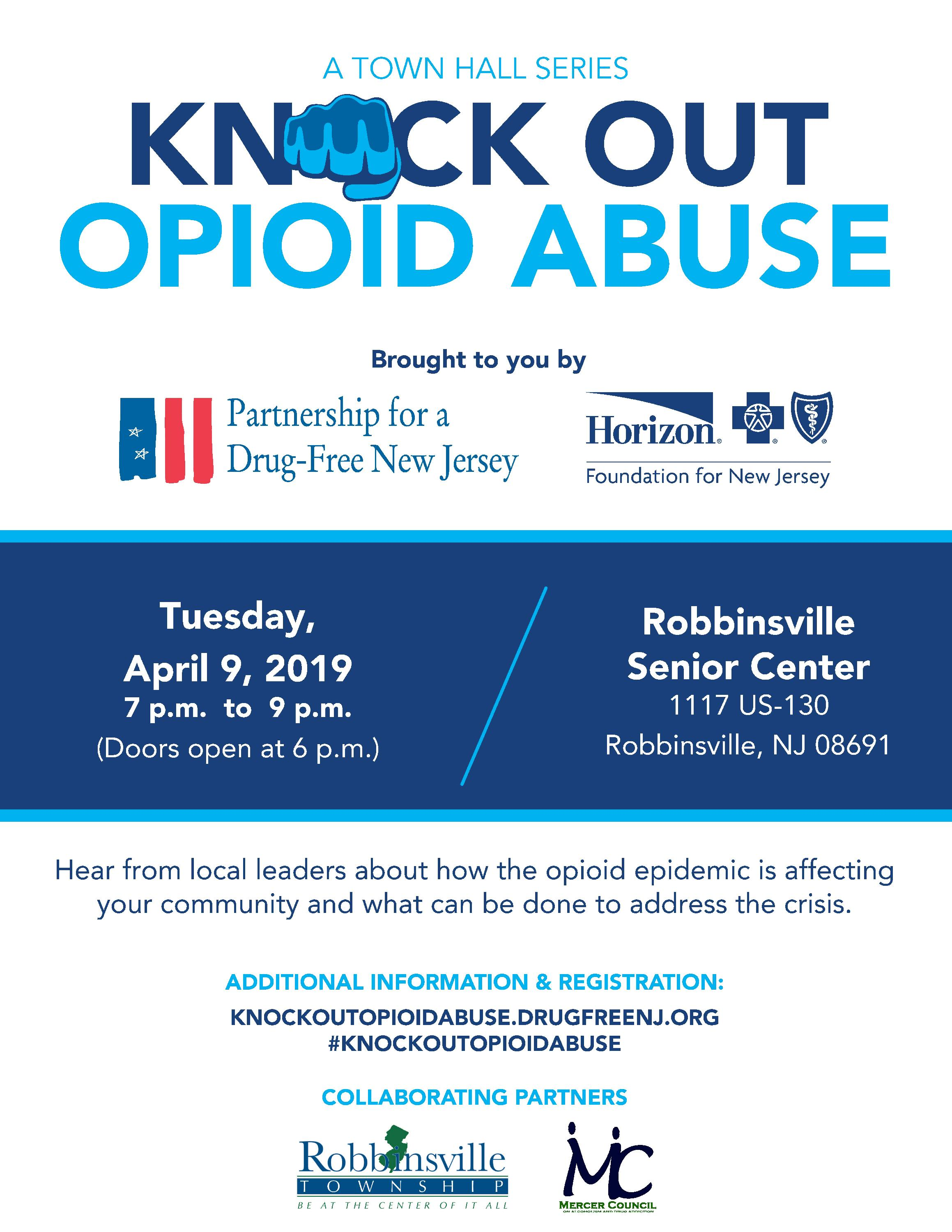 Robbinsville_Opiod-Town Hall