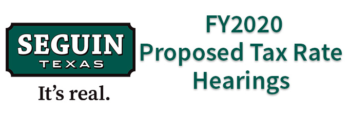 FY2020 Proposed Teax Rate Hearings